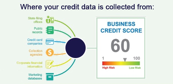 Where your credit data is collected from chart